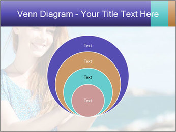 Woman Holding Globus PowerPoint Template - Slide 34