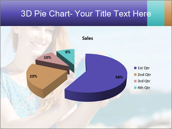 Woman Holding Globus PowerPoint Template - Slide 35