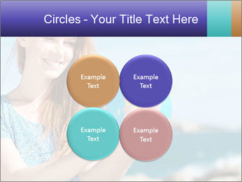 Woman Holding Globus PowerPoint Template - Slide 38