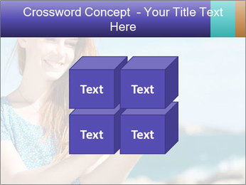 Woman Holding Globus PowerPoint Template - Slide 39