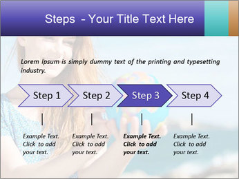 Woman Holding Globus PowerPoint Template - Slide 4