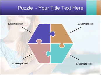 Woman Holding Globus PowerPoint Template - Slide 40