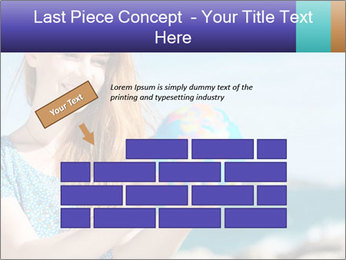 Woman Holding Globus PowerPoint Template - Slide 46