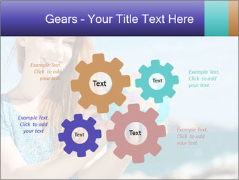 Woman Holding Globus PowerPoint Template - Slide 47