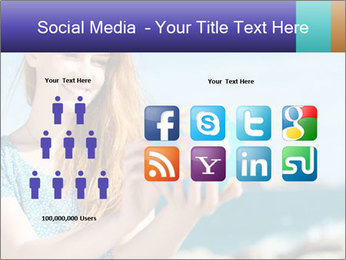 Woman Holding Globus PowerPoint Template - Slide 5