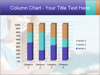 Woman Holding Globus PowerPoint Template - Slide 50