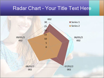 Woman Holding Globus PowerPoint Template - Slide 51