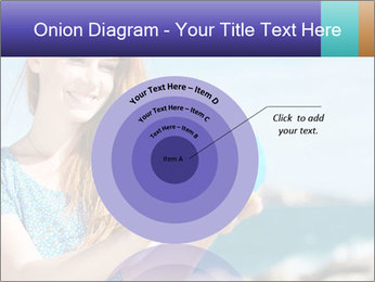 Woman Holding Globus PowerPoint Template - Slide 61