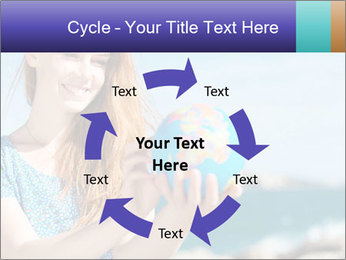 Woman Holding Globus PowerPoint Template - Slide 62