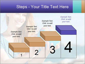 Woman Holding Globus PowerPoint Template - Slide 64