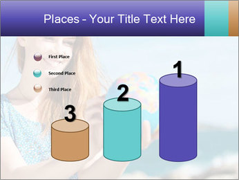 Woman Holding Globus PowerPoint Template - Slide 65