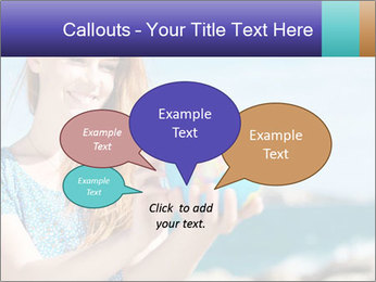 Woman Holding Globus PowerPoint Template - Slide 73