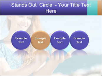 Woman Holding Globus PowerPoint Template - Slide 76