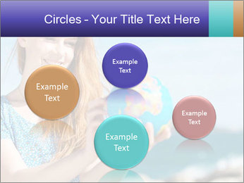 Woman Holding Globus PowerPoint Template - Slide 77