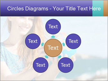 Woman Holding Globus PowerPoint Template - Slide 78