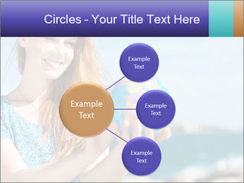 Woman Holding Globus PowerPoint Template - Slide 79