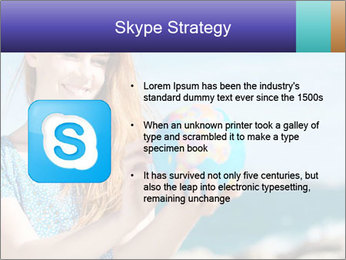 Woman Holding Globus PowerPoint Template - Slide 8