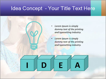 Woman Holding Globus PowerPoint Template - Slide 80