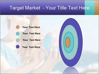 Woman Holding Globus PowerPoint Template - Slide 84