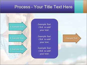 Woman Holding Globus PowerPoint Template - Slide 85