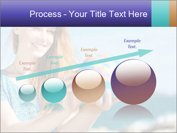 Woman Holding Globus PowerPoint Template - Slide 87