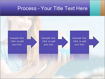 Woman Holding Globus PowerPoint Template - Slide 88