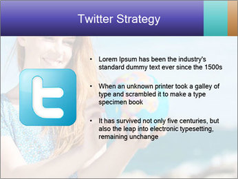 Woman Holding Globus PowerPoint Template - Slide 9