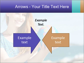 Woman Holding Globus PowerPoint Template - Slide 90