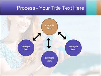 Woman Holding Globus PowerPoint Template - Slide 91