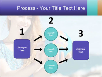 Woman Holding Globus PowerPoint Template - Slide 92