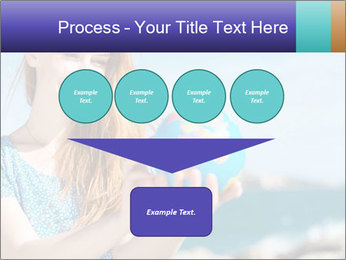Woman Holding Globus PowerPoint Template - Slide 93