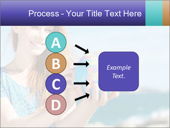 Woman Holding Globus PowerPoint Template - Slide 94