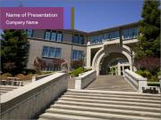 Stairs To Library PowerPoint Template