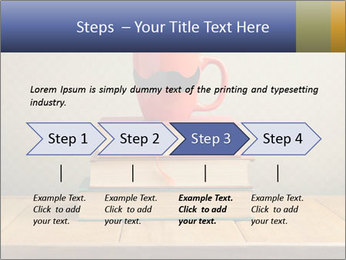 Red Cup And Books PowerPoint Template - Slide 4