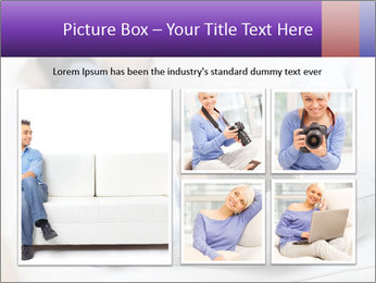 Man Resting On Sofa PowerPoint Templates - Slide 19