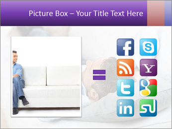 Man Resting On Sofa PowerPoint Templates - Slide 21