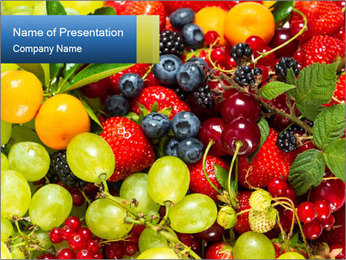 Mix Of Berries PowerPoint Template - Slide 1