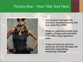 Cyber Woman With Book PowerPoint Template - Slide 13