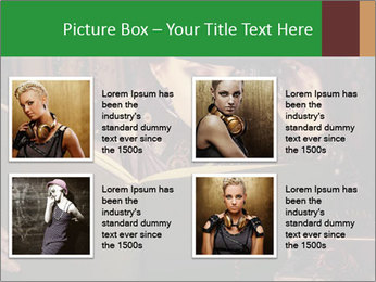 Cyber Woman With Book PowerPoint Template - Slide 14