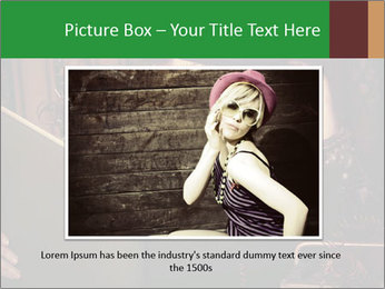 Cyber Woman With Book PowerPoint Template - Slide 15