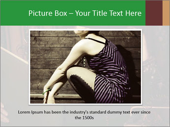 Cyber Woman With Book PowerPoint Template - Slide 16