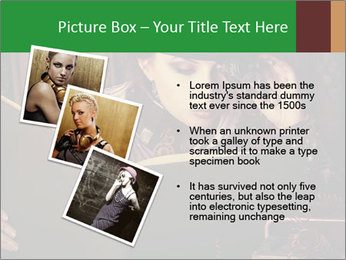 Cyber Woman With Book PowerPoint Template - Slide 17