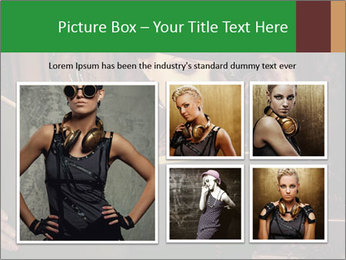 Cyber Woman With Book PowerPoint Template - Slide 19