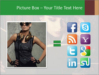 Cyber Woman With Book PowerPoint Template - Slide 21