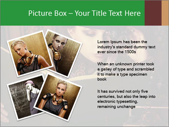 Cyber Woman With Book PowerPoint Template - Slide 23