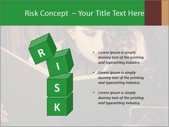 Cyber Woman With Book PowerPoint Template - Slide 81