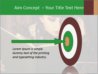 Cyber Woman With Book PowerPoint Template - Slide 83