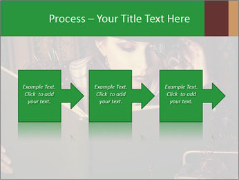 Cyber Woman With Book PowerPoint Template - Slide 88