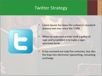 Cyber Woman With Book PowerPoint Template - Slide 9