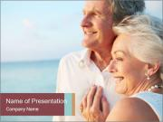 Old Couple Embracing Each Other PowerPoint Template